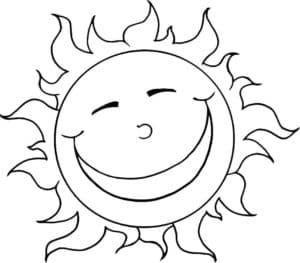 Солнышко смеется раскраска