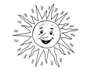 солнце с большими узорами