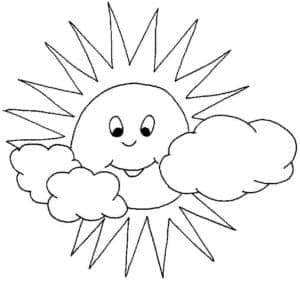 солнышко и облака