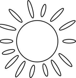 круглое солнце