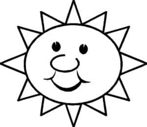 солнце с большим носом