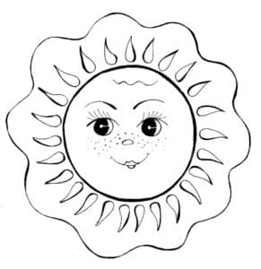 девочка солнышко
