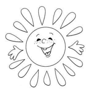 радостное солнышко