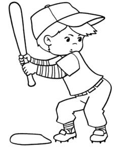 Мальчик играет в бейсбол