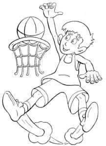 Баскетболист раскраска