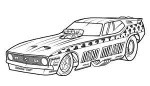 Спортивный тюнингованный автомобиль