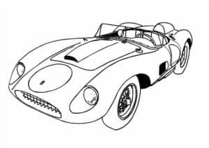 Спортивный мультяшный автомобиль
