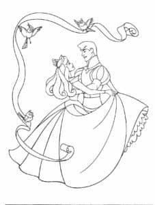 Принц танцует с красавицей