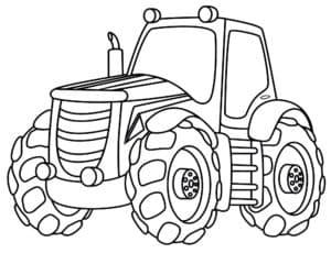 Трактор раскраска