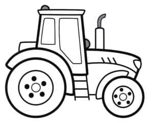 трактор раскраска детская