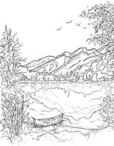 лодка и горы