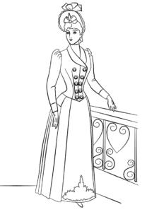 раскраски модели девушки в платьях