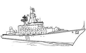Корабль военный 070