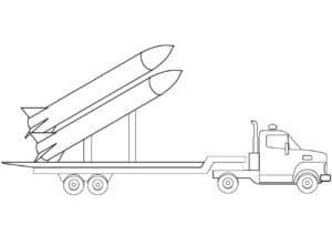 Машина с двумя большими ракетами