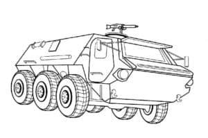 БТР с ракетой