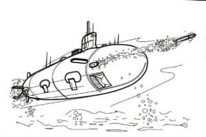 Подводная лодка выпустила торпеду