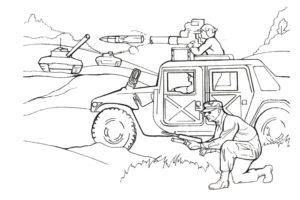 Военная машина и солдаты