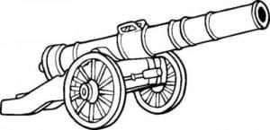 старинная пушка