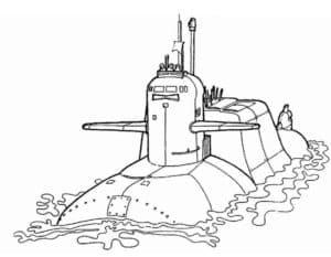 Подводная лодка на поверхности