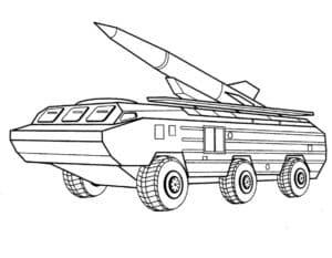 Машина с ракетой