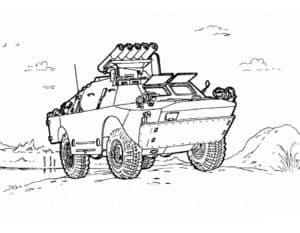 Машина с ракетной установкой раскраска