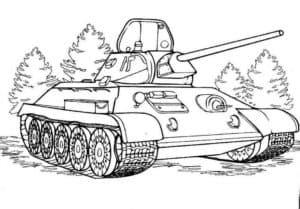танк в лесу