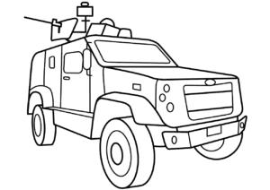 Машина с пулеметом