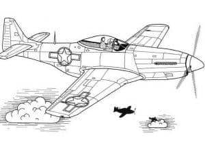 Самолет с пилотом раскраска