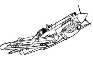 Самолет с мордой акулы