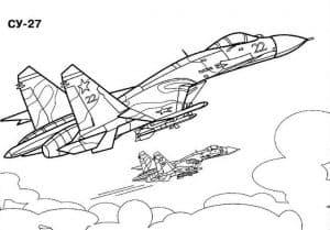 Два истребителя СУ-27