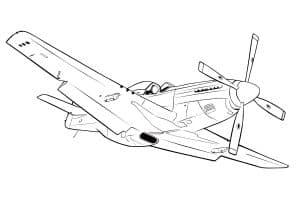 Большой самолет с пропеллером