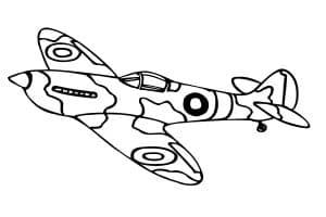 Самолет в военной раскраске