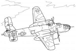 Самолет в небе раскраска для детей