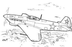 Военный самолет с звездами