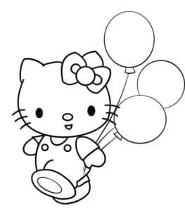 кот с воздушными шарами