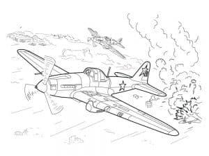 Военные самолеты раскраски детские