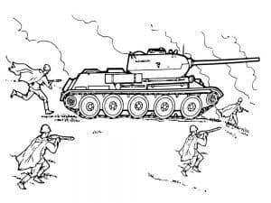 Воины идут в атаку
