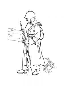 Воин с оружием раскраска детская