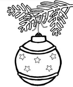 новогодний шар с звездочками