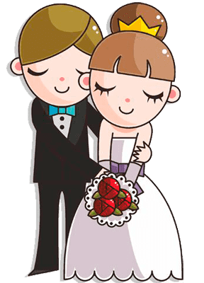 Раскраска жених и невеста