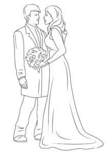 невеста с женихом в пиджаке