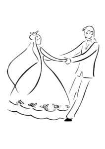 невеста с женихом в свадебном танце