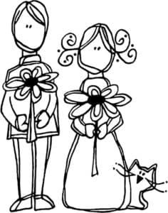 Жених невеста и кот