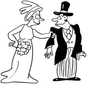 страшная невеста и жених