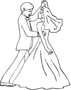 свадебный танец раскраска