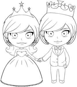 невеста и жених в коронах