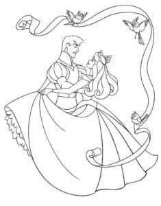 жених и невеста с птичками