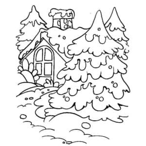 елки и дом