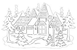 домики и елки
