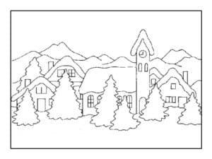 дома в лесу картинка